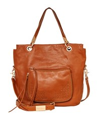 Foley Corinna Stevie Leather Tote Honey Brown