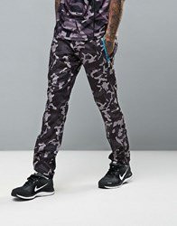 Ellesse Joggers With Reflective Logo In Camo Print Black