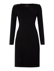 Simon Jeffrey Knitted Dress Black