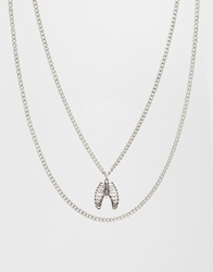 Asos Ribcage Necklace Pack Silver