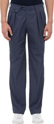 Tomorrowland Pinstripe Pleated Trousers Blue Size 46 Eu