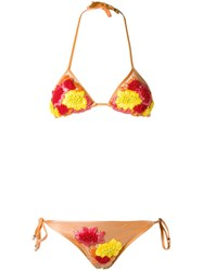Amir Slama Triangle Bikini Set Yellow And Orange