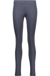 Vince Melange Stretch Twill Leggings Storm Blue