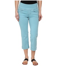 Jag Jeans Petite Caley Pull On Crop Classic Fit In Surf Surf Women's Jeans Blue
