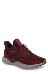 Adidas Alphabounce Beyond Knit Running Shoe Maroon Mystery Ruby