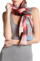 Liebeskind Abstract Printed Scarf Red