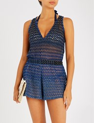 Missoni Metallic Knitted Playsuit Tuta Corta