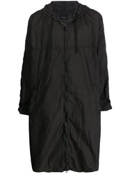 08Sircus Unstructured Raincoat Black