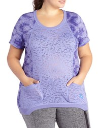 Activezone Short Sleeve Burnout T Shirt Aster Purple