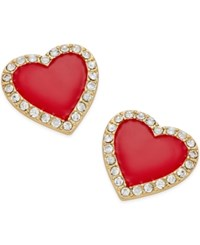 Thalia Sodi Gold Tone Red Enamel And Crystal Stud Earrings Only At Macy's