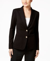 Tommy Hilfiger Two Button Dot Pattern Blazer Black