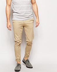 Pull And Bear Pullandbear Super Skinny Chino Beige