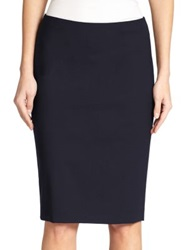 Theory Edition Stretch Wool Pencil Skirt Deep Navy