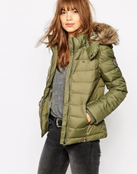 Tommy Hilfiger Hilfiger Denim Martina Puffy Bomber Jacket Green