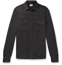Faherty Cotton Dobby Overshirt Gray