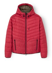 Mango Quilted Hooded Coat Red