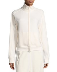 Vince Zip Front Track Jacket White