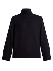 The Row Nonti Cashmere And Silk Blend Sweater Navy