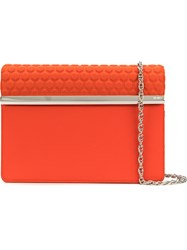 Rodo Foldover Clutch Bag Yellow And Orange