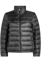 Polo Ralph Lauren Quilted Down Jacket With Hood Black