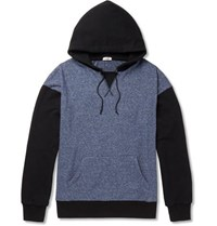 Eidos Loopback Cotton Blend Jersey Hoodie Gray