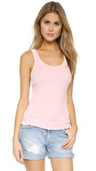 Three Dots Graca Classic Rib Tank Peach Blush
