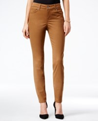 Styleandco. Style Co. Petite Slim Fit Colored Wash Skinny Jeans Only At Macy's Tobacco