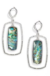 Judith Jack Women's Abalone Orbital Drop Earrings