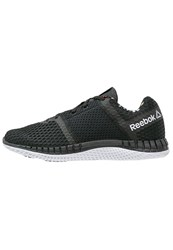 Reebok Zprint Run Thru Gp Cushioned Running Shoes Black White