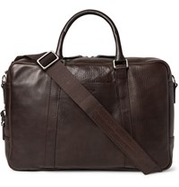 Shinola Slim Leather Briefcase Brown