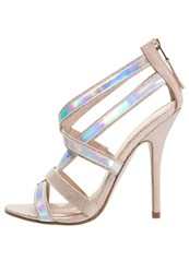 Paper Dolls Zanna High Heeled Sandals Nude Metallic