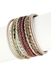 Saachi Braided Multi Cord Bracelet Metallic