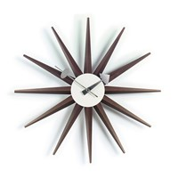 Vitra Sunburst Clock Walnut
