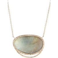 Monique Pean Atelier Women's Grey Sapphire Slice And Champagne Diamond Pendant Necklace No Color
