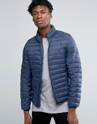 Pull And Bear Pullandbear Padded Jacket In Navy Navy