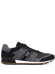 Hugo Boss Knitted Lace Up Sneakers Black