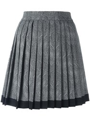 Versace Mini Pleated Envers Skirt Black