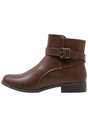 Evans Alena Ankle Boots Brown
