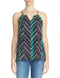 1.State Chevron Sleeveless Top Black