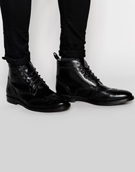 Red Tape Brogue Boots Black