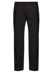 Lanvin Chain Stitch Pleated Front Trousers Navy