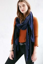 Urban Outfitters 2 Tone Super Soft Oblong Scarf Black Multi