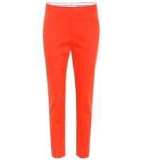 Tory Burch Vanner Cropped Trousers Red