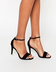 New Look Suedette Barely There Heeled Sandals Black