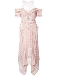 Thurley Crochet And Eyelet Dress Pink And Purple
