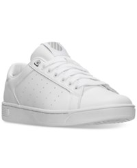K Swiss Men's Clean Court Casual Sneakers From Finish Line White Gull Gray