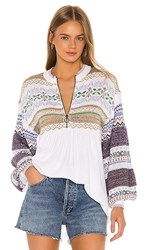 Free People Cabin Fever Sweater In White.