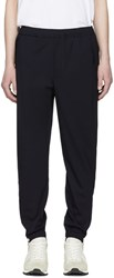 Tim Coppens Navy Wool Staple Jogger Trousers