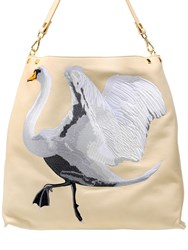 Giancarlo Petriglia Swan Leather Tote Bag