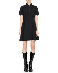 Kenzo Fit And Flare Polo Dress Black